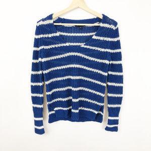 Banana Republic Italian Linen Striped Sweater, XS